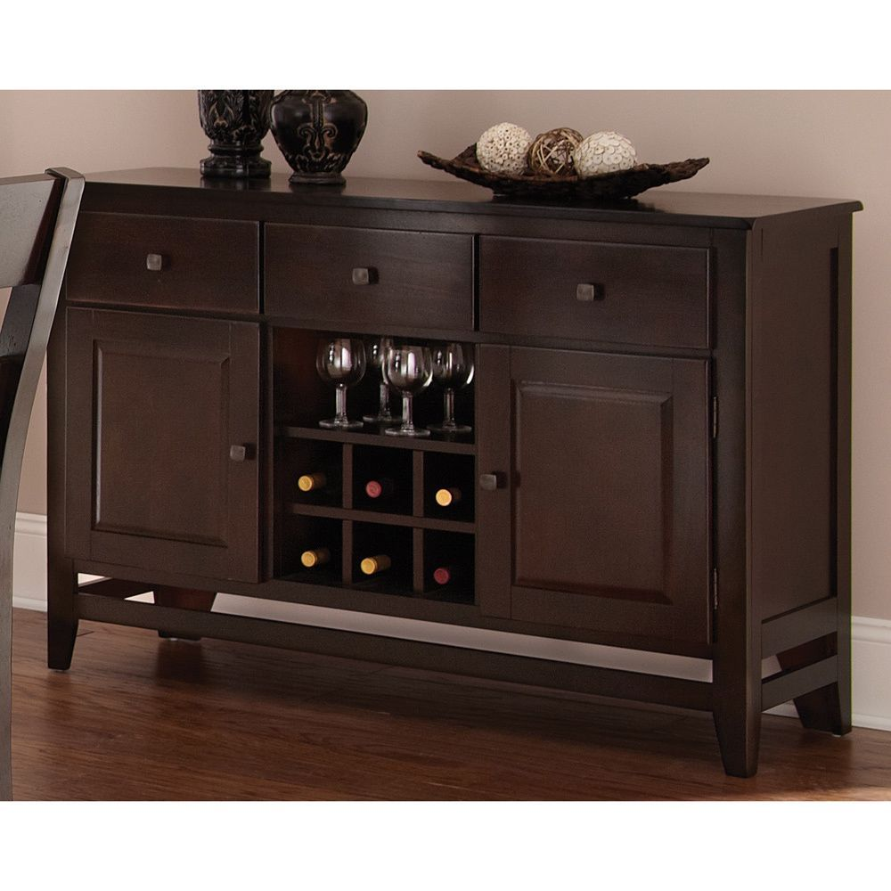 Add storage and serving space to your dining room or kitchen with