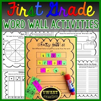 First Grade Word Wall Activities | Phonics, Literacy and Activities
