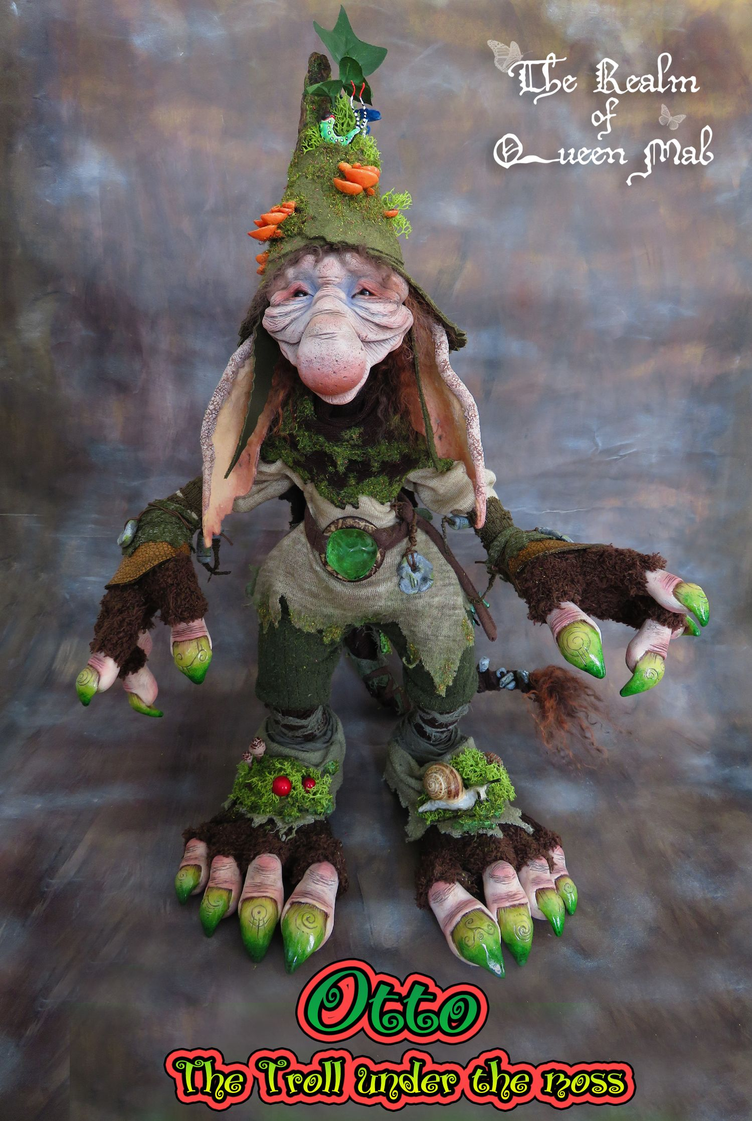 Otto, the Troll under the moss by Silver Berry. Troll, Faerie, Fae ...