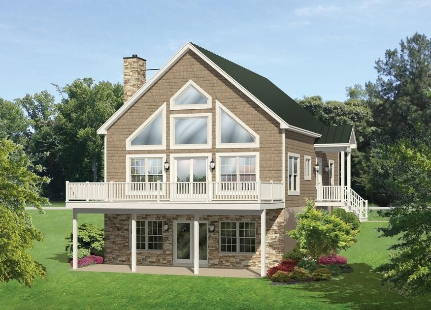 House Plan Kick Back And Relax On The Deck Vacation House Plans A Frame House Plans Ranch Style House Plans
