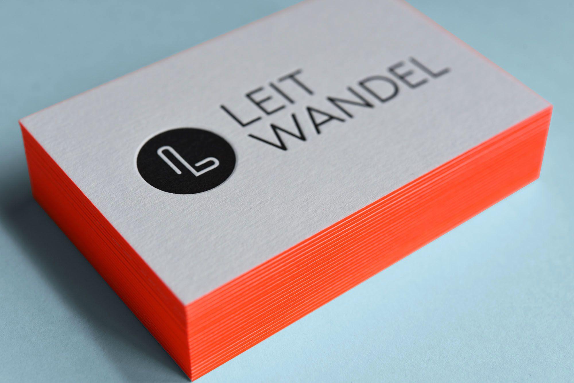 Brillant Farbige Kanten Für Deine Visitenkarten Letterpress