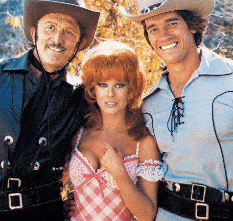 Ann-Margret Still Of Kirk Douglas Arnold Schwarzenegger And Ann Margret In The Villain