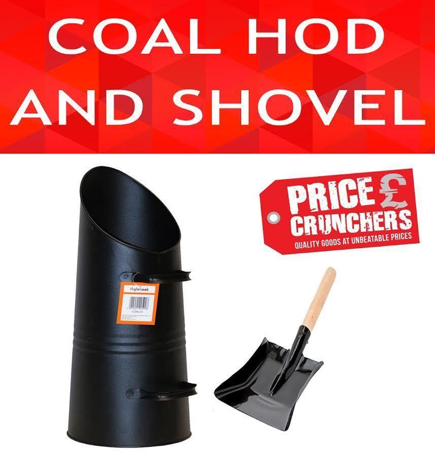 Fireplace Ash Shovel Part - 29: Black Metal Coal Bucket With Fire Ash Shovel Log Holder Hod Fireplace  Fireside #Inglenook