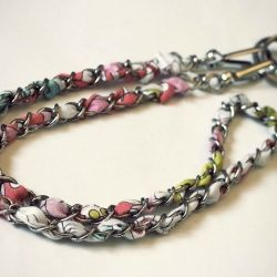 Make your own Vera Bradley Look-Alike chain lanyard for only a few bucks! Super quick & easy photo tutorial included!