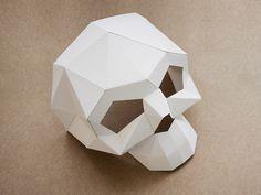 diy anleitung totenkopfmaske aus papier machen via. Black Bedroom Furniture Sets. Home Design Ideas