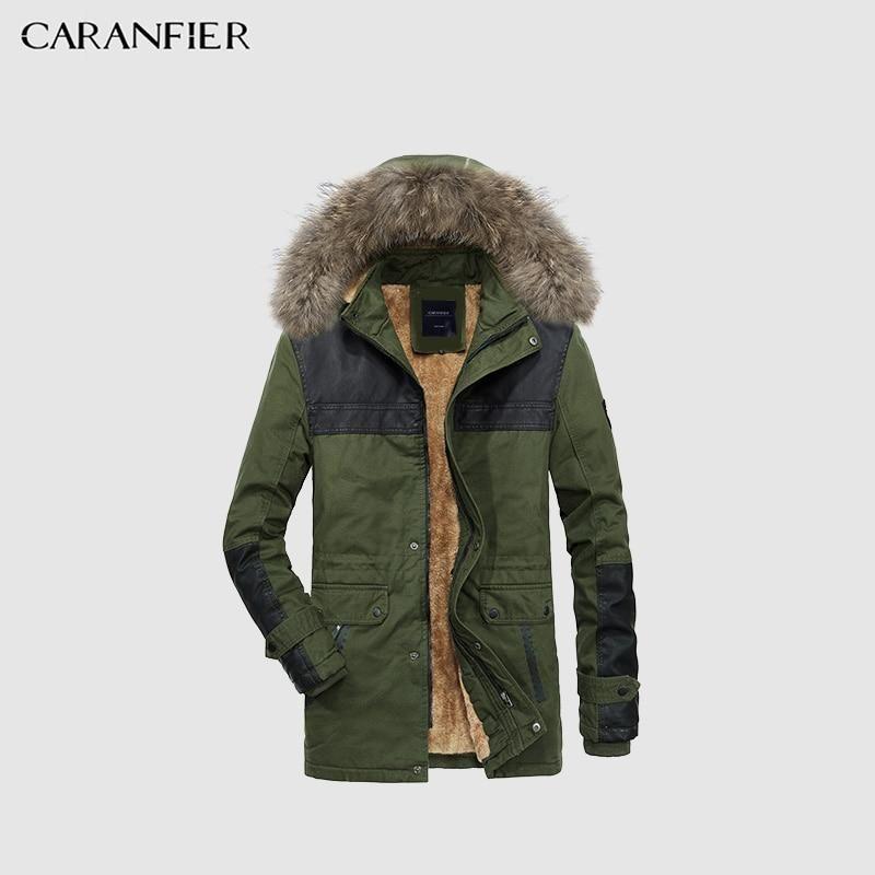 Joe Wenko Mens Fleece Lined Thick Ski Plus Size Windbreaker Parkas Jacket