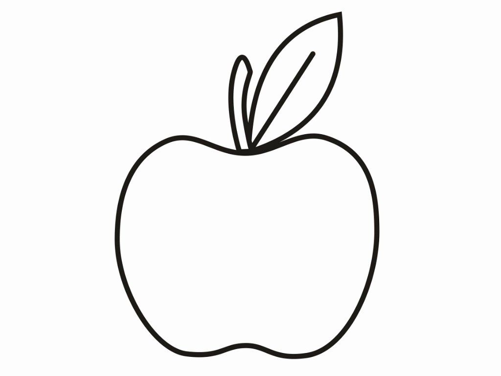 Apple Printable Coloring Pages Inspirational Apple Coloring Picture Print Children Wickedbabe In 2020 Apple Coloring Pages Fruit Coloring Pages Flower Coloring Pages