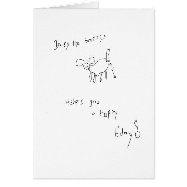 Daisy The Shih Tzu Birthday Card Cards Birthday Happybirthday