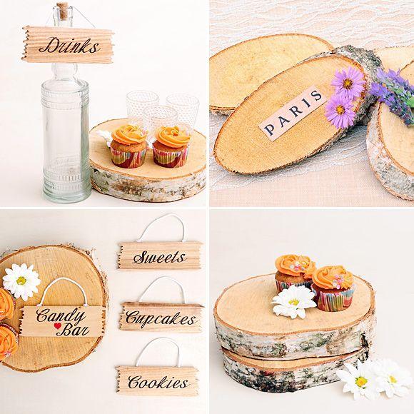 Decoracion de boda con troncos de madera wedding party celebraciones pinterest troncos de - Tronco madera decoracion ...
