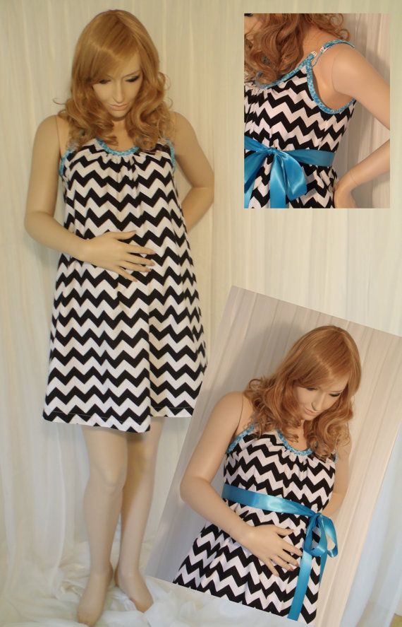 Black Chevron Maternity Hospital Gown delivery by MilkThreads Would ...