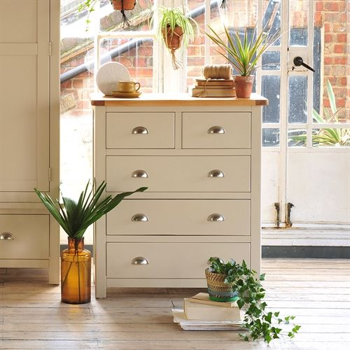 Lundy Stone Grey 2 Over 3 Drawer Chest J477 With Free Delivery The Cotswold Company Pp32ch Bedroom Furniture For Sale Furniture Chest Of Drawers