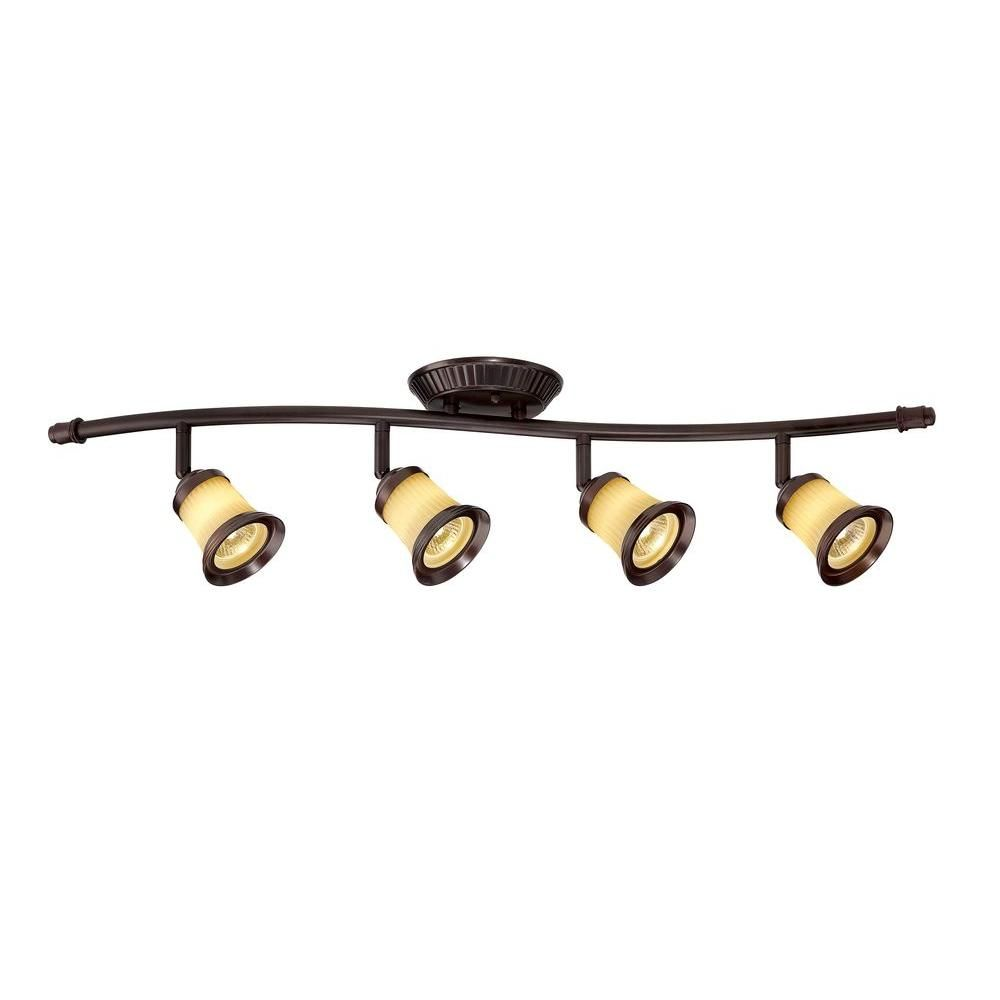 Modern led ceiling track lighting kit 4 bronze light heads dimmable modern led ceiling track lighting kit 4 bronze light heads dimmable fixture new track lighting kits ceiling and glass diffuser aloadofball Image collections