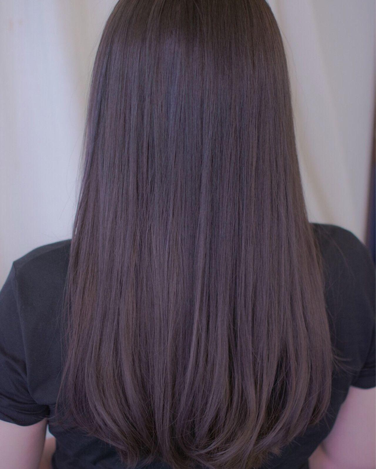 野口 輝 Vicushair 紫 ヘアカラー 髪色 暗め 髪 色