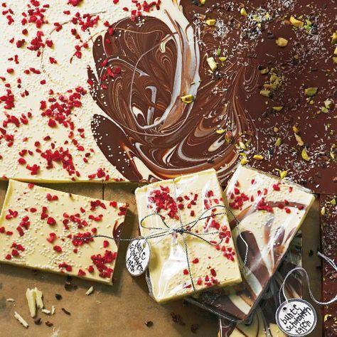 Brigitte Weihnachtsgeschenke.Bunte Schokoladentafeln Rezept Persönliche Geschenke