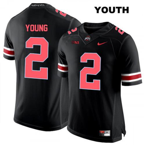 Youth Ohio State Buckeyes #2 Chase Young Black NCAA Football Jersey #ohiostatebuckeyes