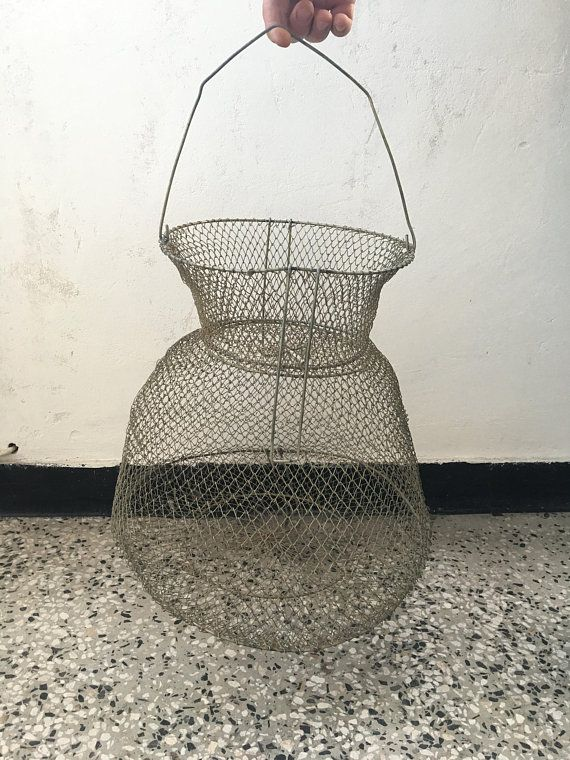 Collapsible Metal Vintage Basket Bag Country House Home Decor Russian Market Rustic Wabi Sabi Pinterest B