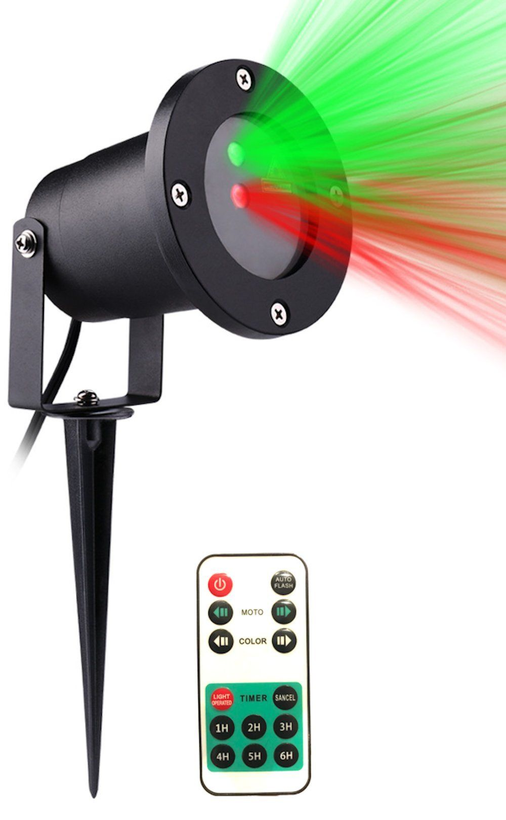 2018 VERSION] Christmas Outdoor Laser Light Projector w/Wireless ...