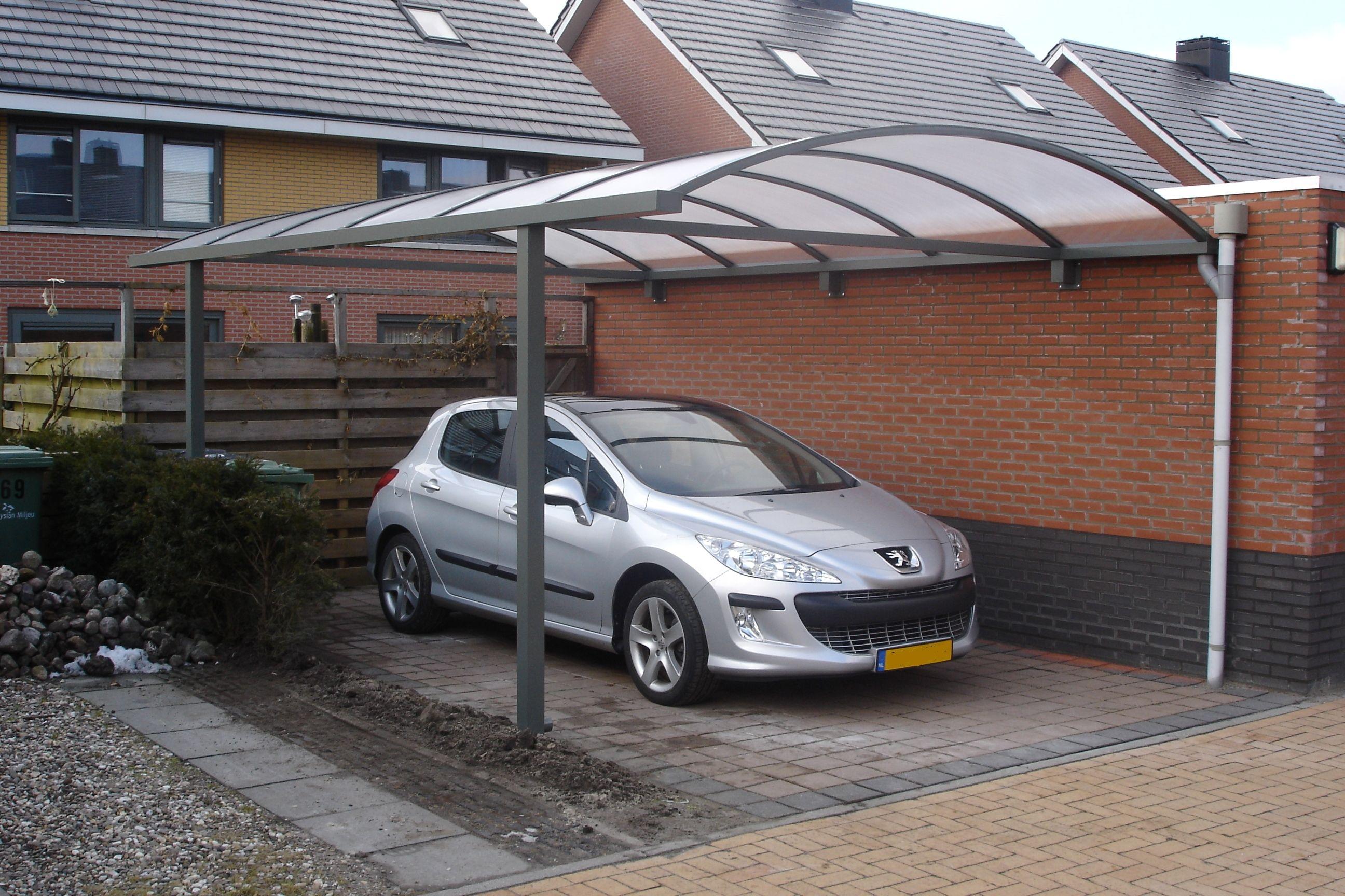 Carport Pext - enkele boog - muuraanbouw | Aluminium Carport | Pinterest