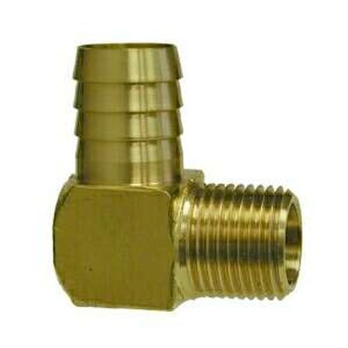32313 Midland 3 4 X 1 2 Hose Barb X Mip Elbow Brass Fittings