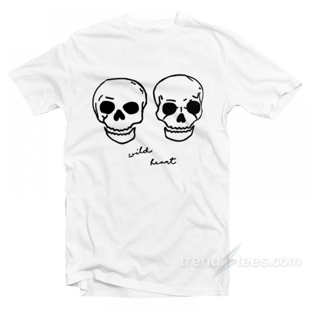 3c36f3063 Wild Heart Embroidered Skulls Boyfriend T-Shirt Get It Now >> Price