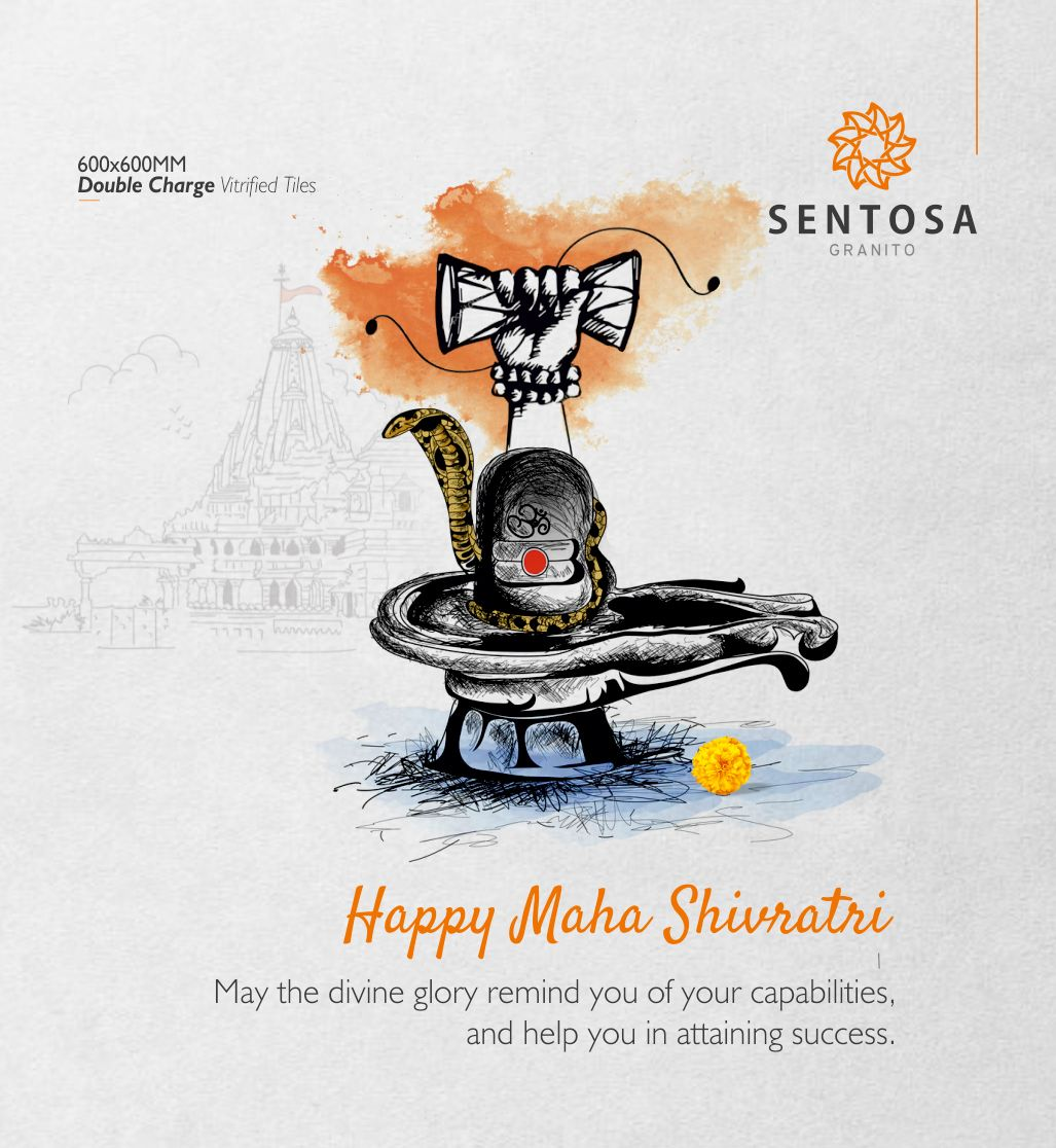 May the divine glory remind you of your capabilities and help you in attaining success.  #MahaShivratri #MahaShivratri2020 #Shivratri #Lordshiva #Thankyou #Sentosa #Granito #Brand #Doublecharge #Vitrifiedtiles #FloorTiles