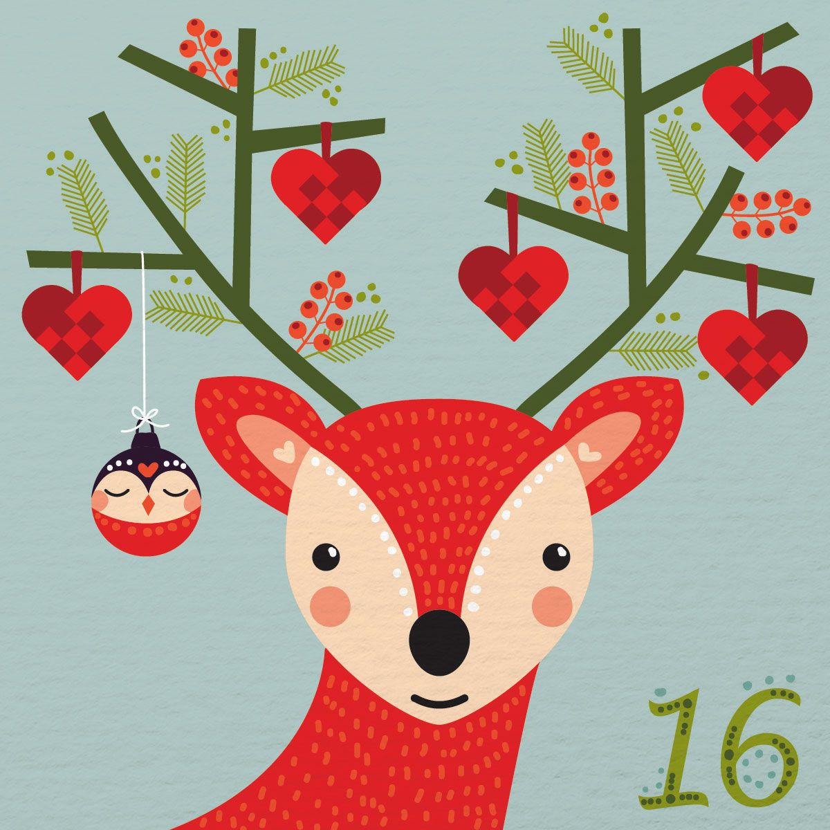 Christmas Calendar Illustration : Advent illustration day caroline alfreds by