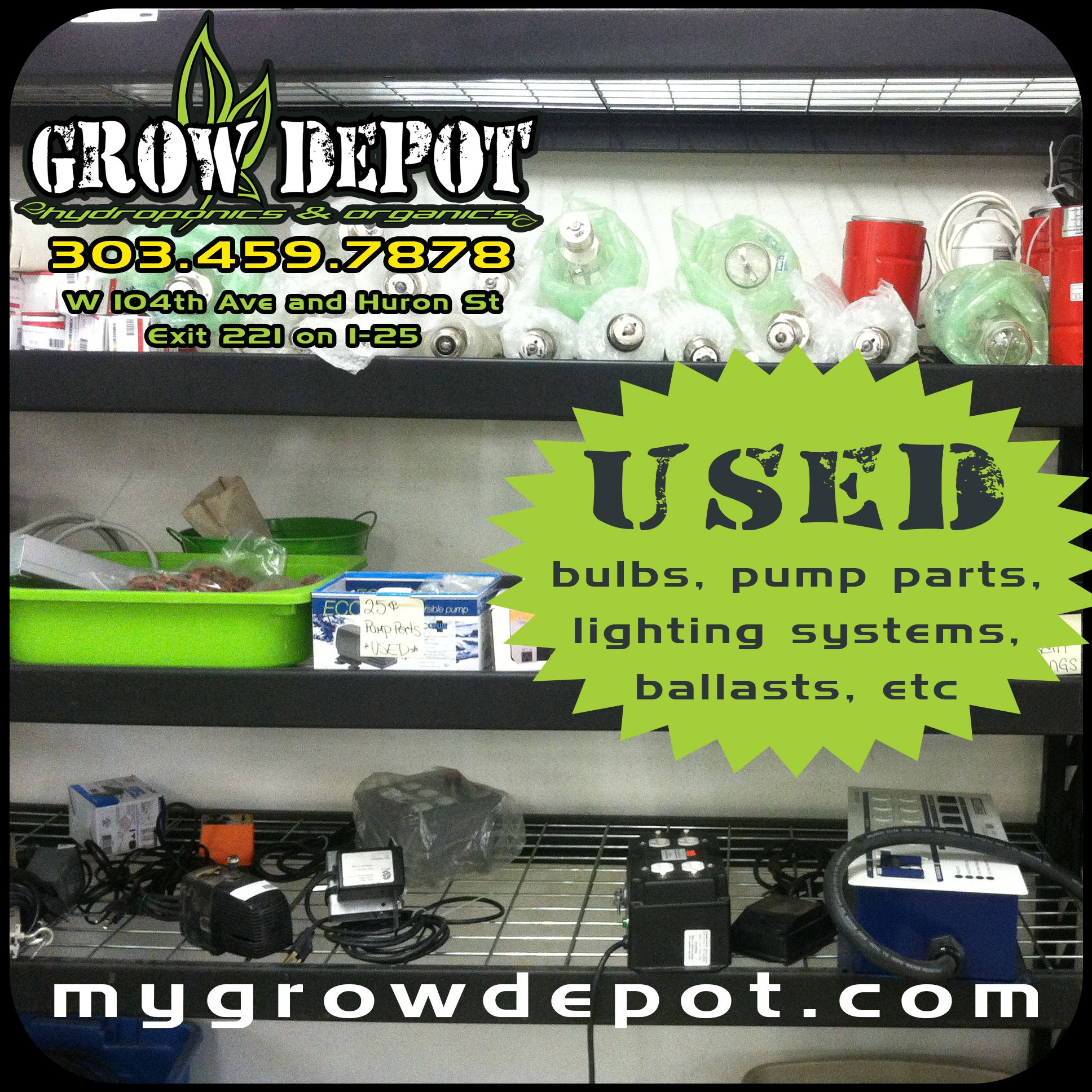We buy and sell USED hydroponic supplies! Come by our store today