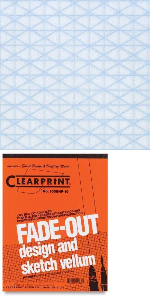 Paper Crafts 160666 Clearprint Fade Out Design And Sketch Vellum