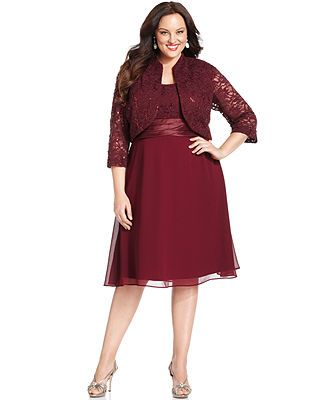 a8a729c962a19 I ordered this too! R M Richards Plus Size Sequined Lace Dress and ...