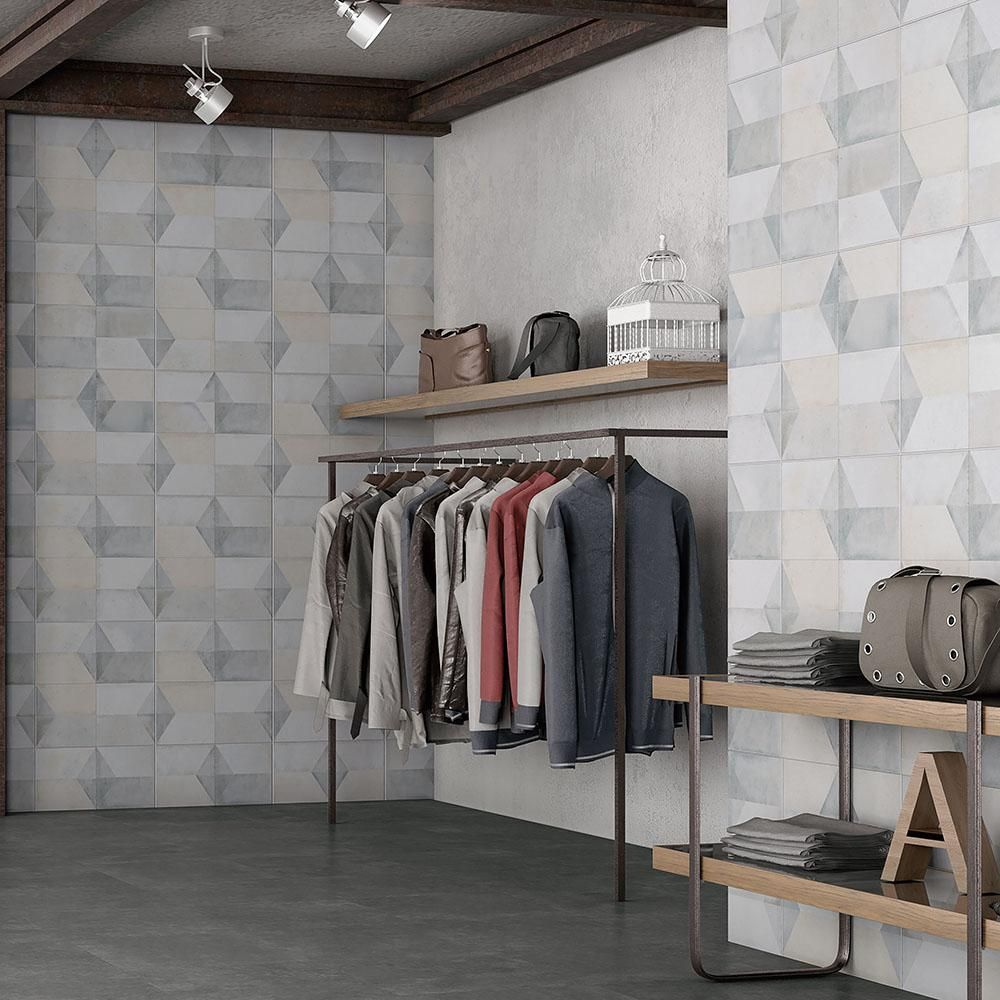 Merola tile geomento 17 58 in x 17 58 in ceramic floor and merola tile geomento 17 58 in x 17 58 in ceramic floor and wall tile 111 sq ft case greylow sheen dailygadgetfo Images