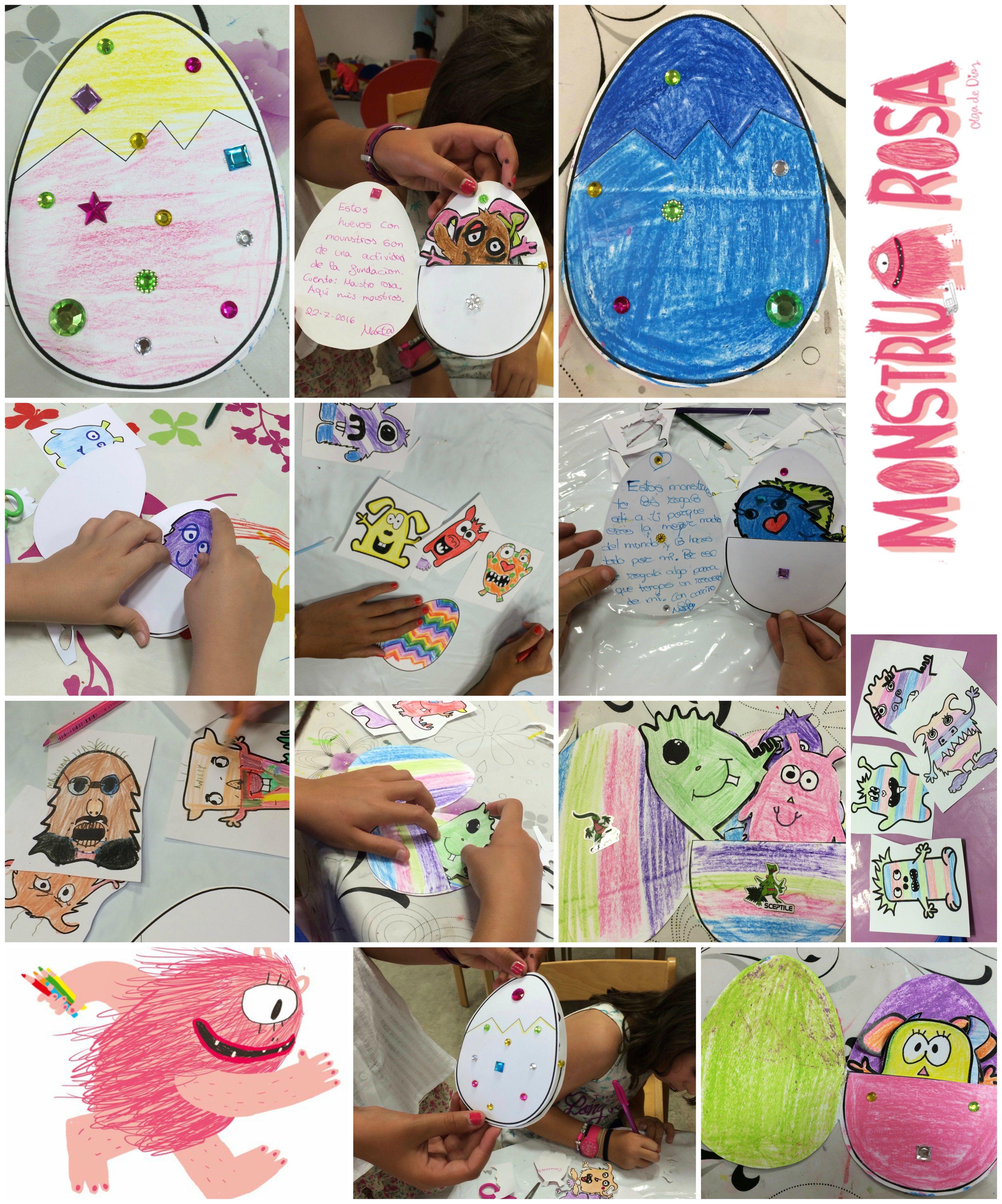 Actividad Para El Cuento Monstruo Rosa Olga De Dios Apila Ediciones Actividades Manualidades Infantiles Actividades Infantiles