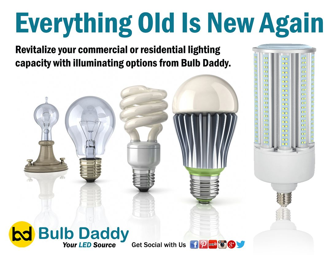 We Ve Got What You Need At Bulb Daddy Old New Incandescent Light Bulbs Produce Light By Heating A Fil Industrial Led Lighting Bulb Residential Lighting