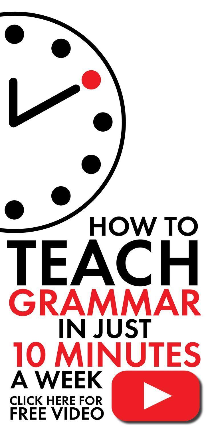 EASY grammar lesson idea for middle school & high school