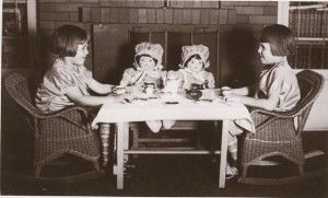 When you're a little girl, there's nothing like a tea party with your favorite dolls.