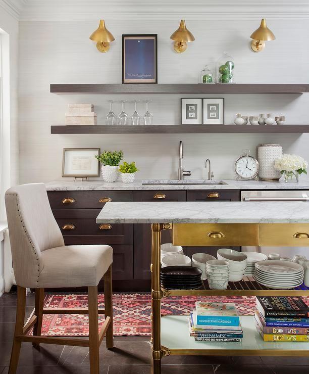 Best Stunning Kitchen Features Dark Brown Stained Cabinets 400 x 300