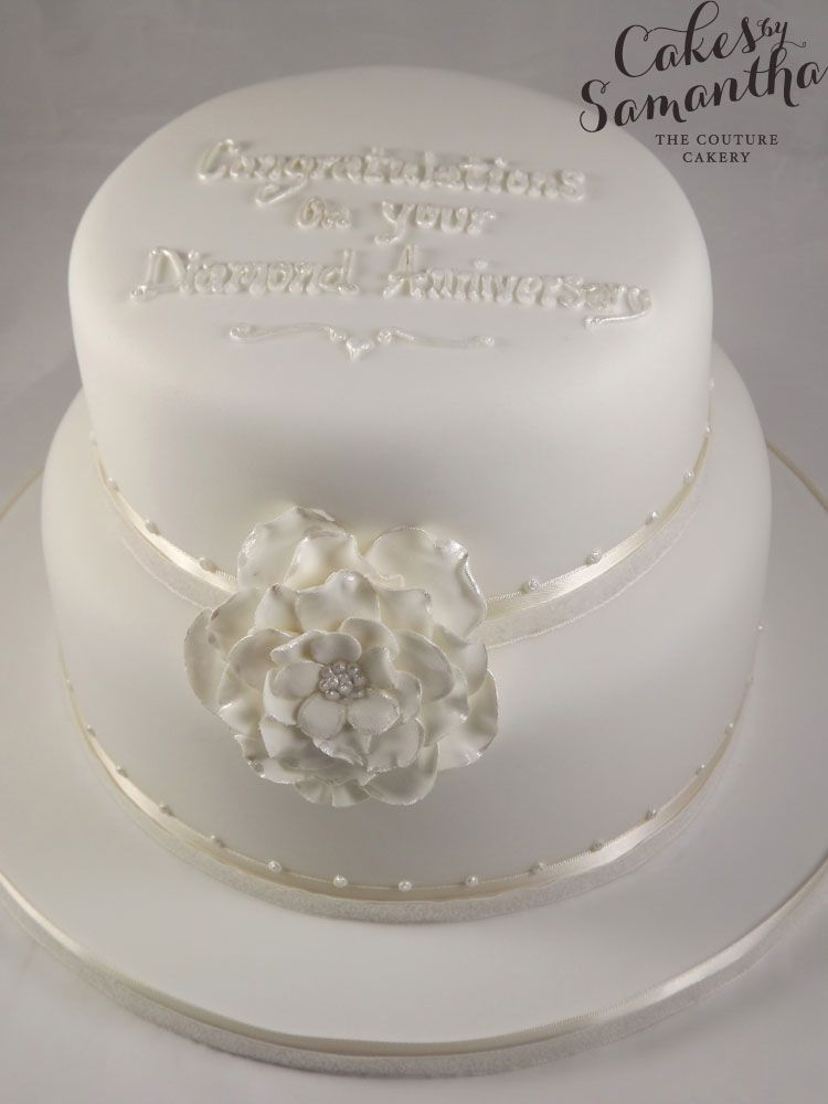 Diamond 60th Anniversary Cake