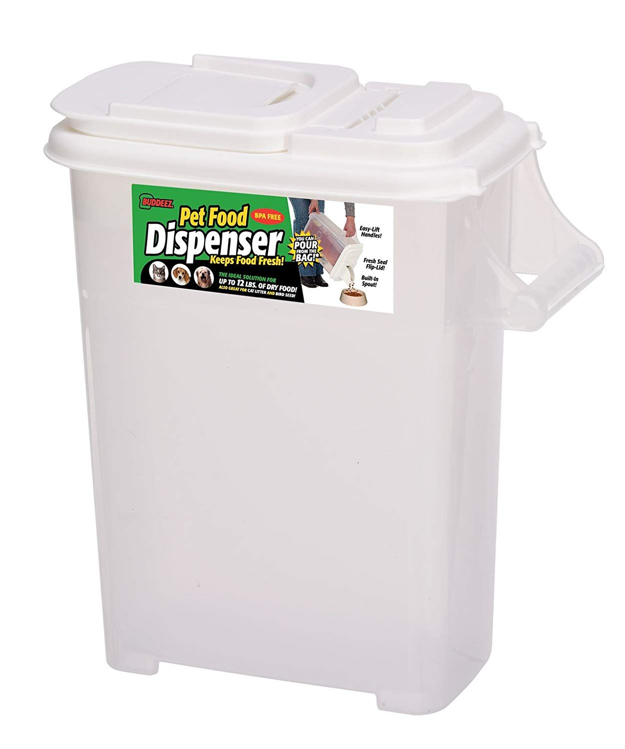 Buddeez 16qt Fresh Dry Dog And Cat Food Plastic Storage