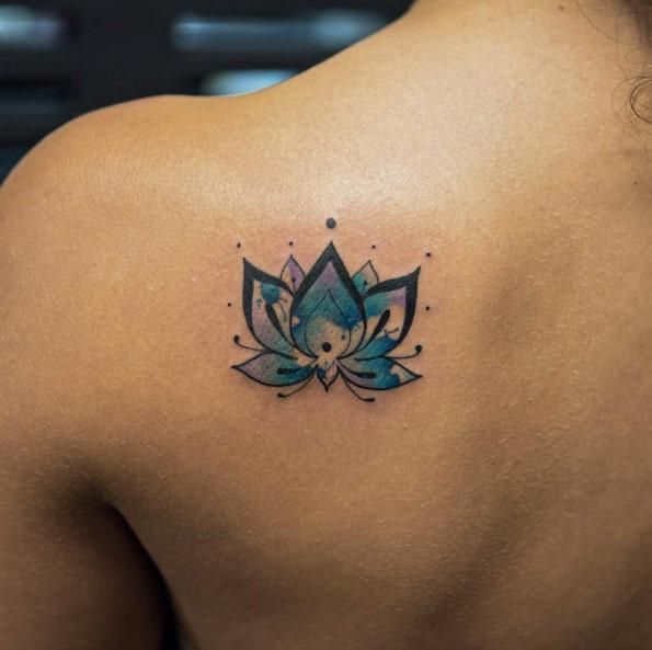 64 Lotus Flower Tattoo Ideas For Women Tiny Tattoos For Girls Watercolor Lotus Tattoo Blue Lotus Tattoo