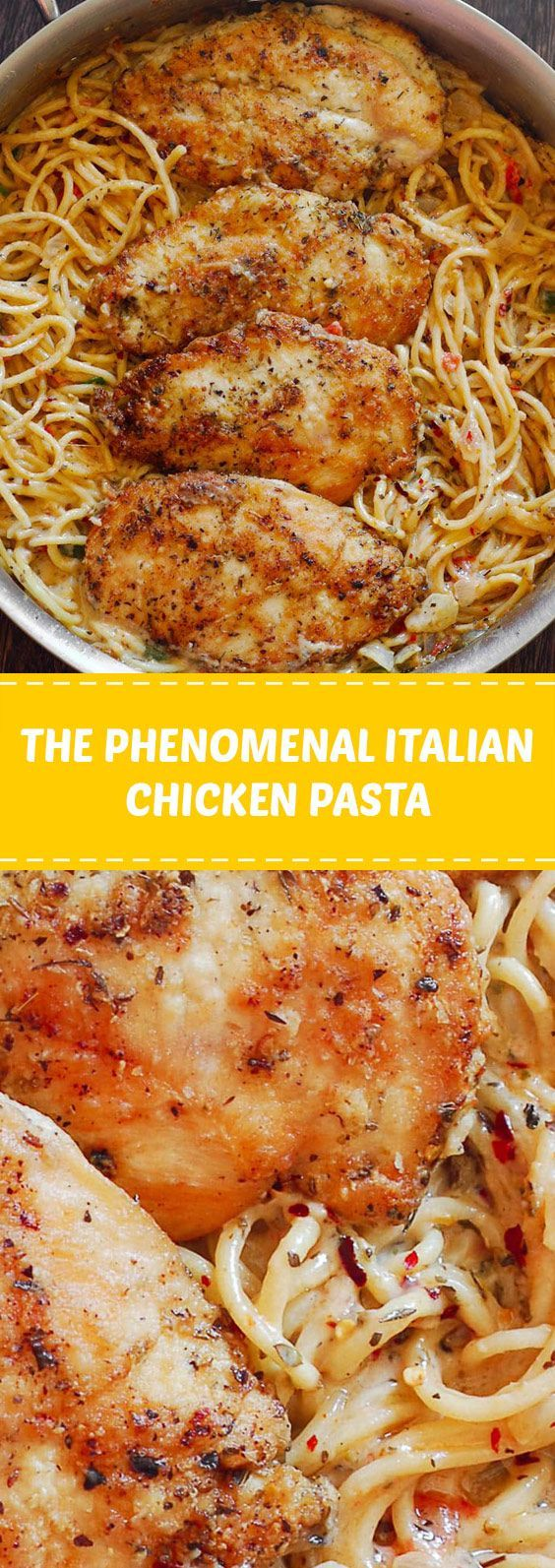 The Phenomenal Italian Chicken Pasta With Only 30 Minutes Of Total Work This Dinner Recipe Pasta Recipes Easy Fast Italian Chicken Pasta Easy Pasta Recipes