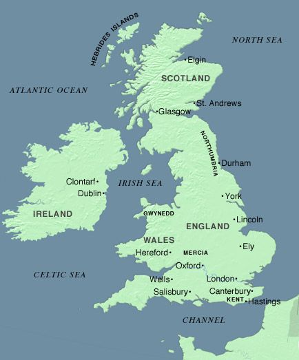 Map Of England Year 1000.Great Britain And Ireland 1000 1400 A D Lincoln England