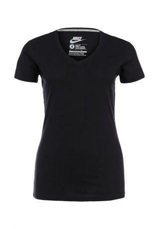 Удобная и практичная футболка Nike выполнена из дышащего хлопкового материала черного цвета. Детали: прилегающий силуэт, V-образный вырез с трикотажной отделкой, вышитый логотип бренда на груди. http://j.mp/1rEVXJa