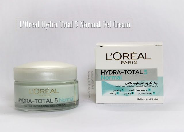 Salwa لوريال جل كريم المرطب الكامل العادي L Oreal Paris Hydra Total 5 Normal Gel Cream Gel Cream Gel Loreal Paris