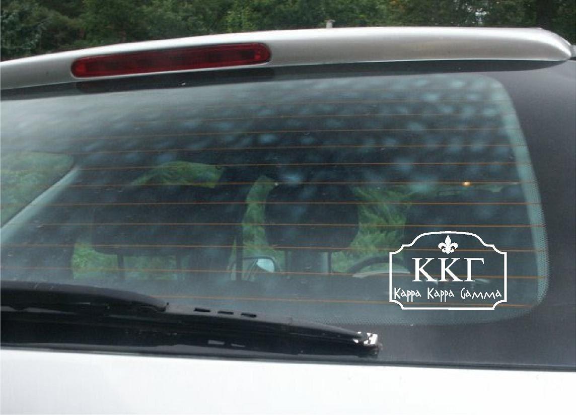 Kappa Kappa Gamma Car Decal Michigan Sticker Car Window Decals Michigan [ 824 x 1144 Pixel ]