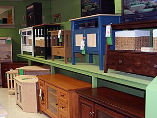 Hayes Unfinished Furniture. Our Showroom In Brewer, Maine.