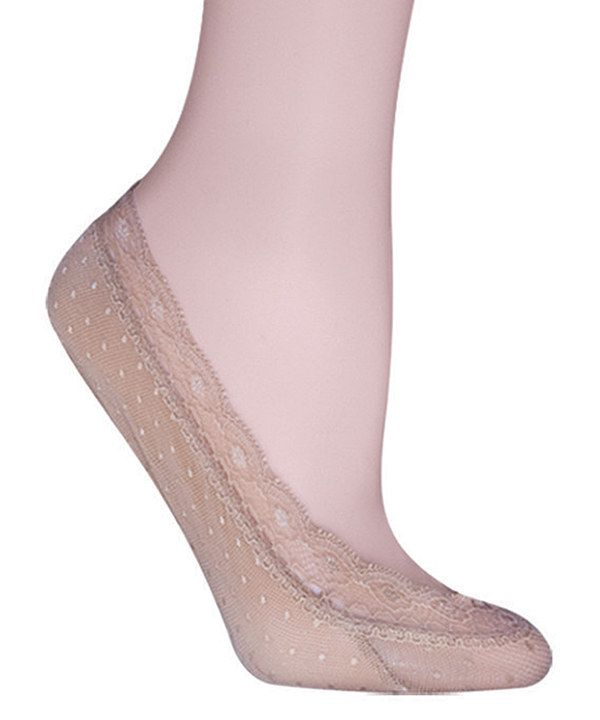 Look at this Nude Dot Lace Socklets on #zulily today!