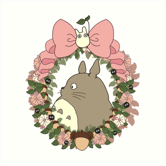 Also Buy This Artwork On Wall Prints Apparel Stickers And More Totoro Art Studio Ghibli Totoro