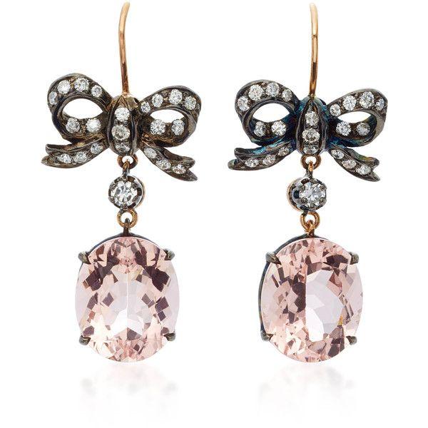 Montse Esteve 18K Gold Morganite and Diamond Earrings 6 765 BGN