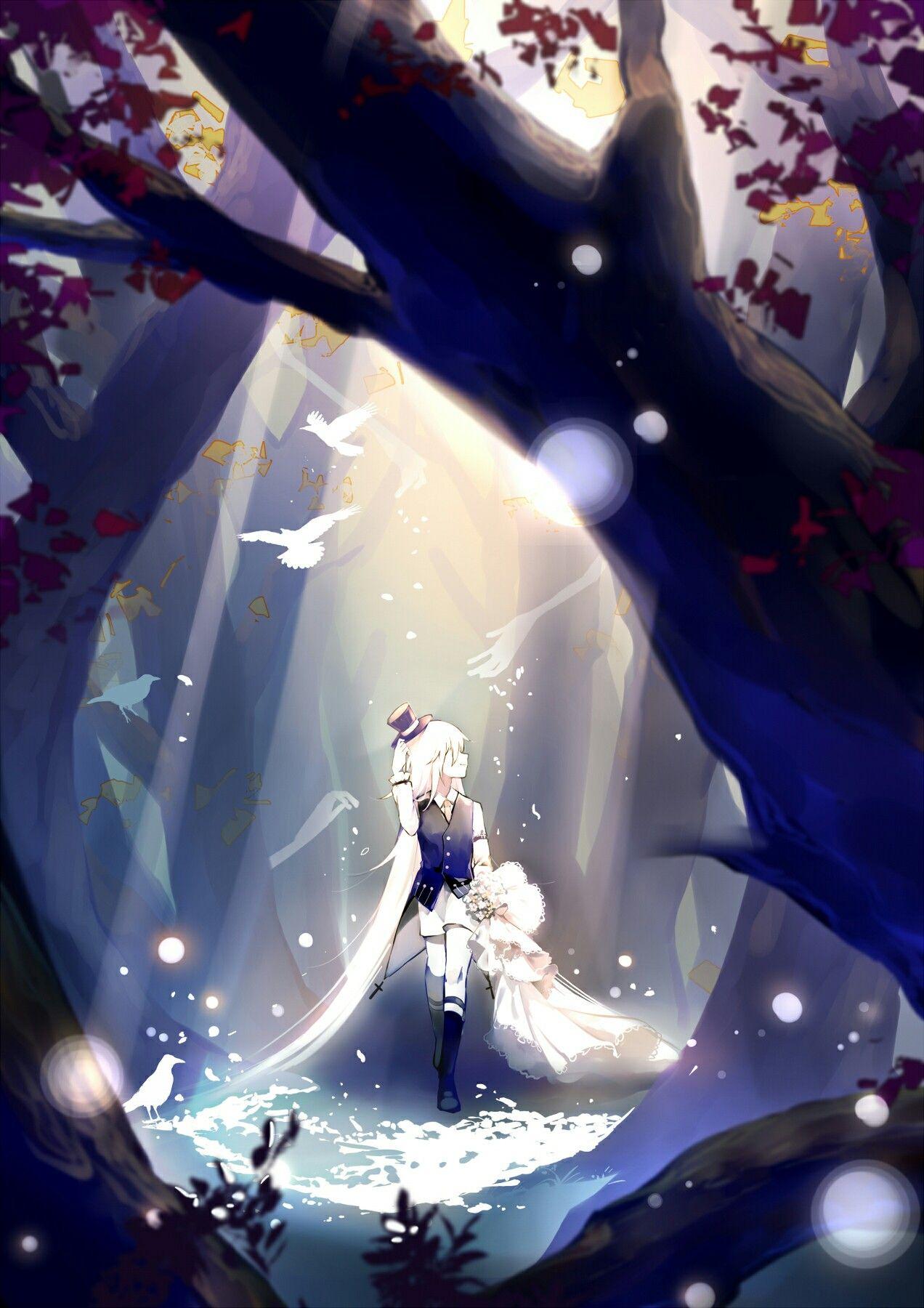 Ghim của Hylie trên Anime White Hair Hình nền điện thoại
