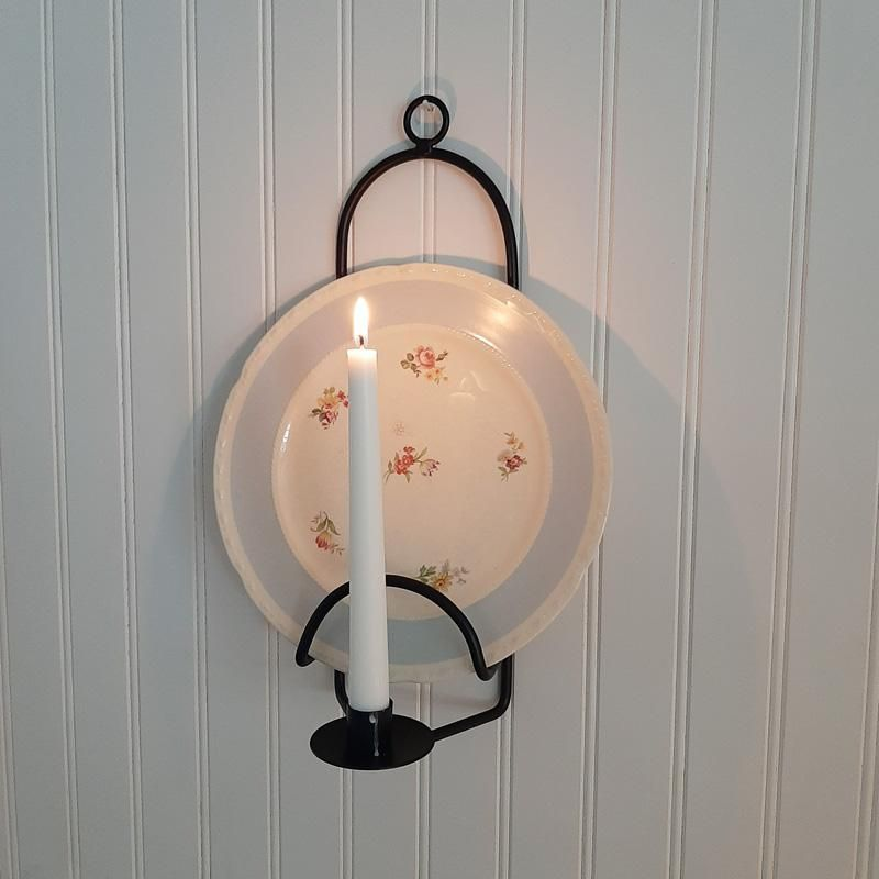 Wall Mounted Plate Rack With Candle Holder In 2020 Mount