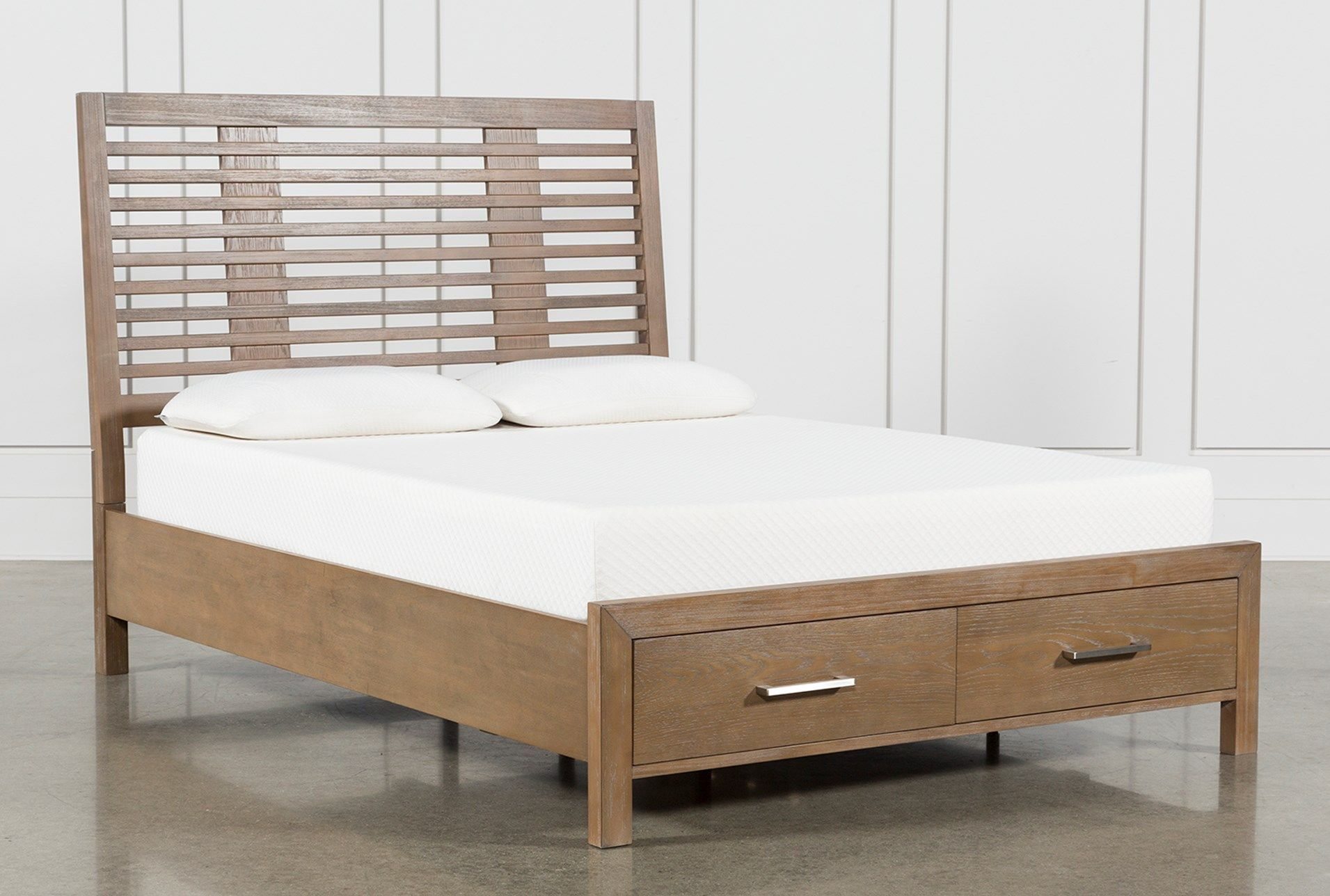 Kevin Full Panel Bed With Storage Queen Panel Beds Panel Bed